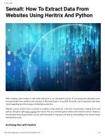 Semalt: How To Extract Data From Websites Using Heritrix And Python