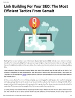 Link Building For Your SEO: The Most Efficient Trctics From Semalt