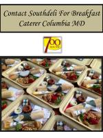 Contact Southdeli For Breakfast Caterer Columbia MD