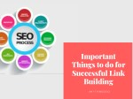 Important Things to do for Successful Link Building
