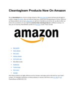 Cleantogleam Products Now On Amazon