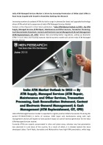 Unbanked Population in India, Global ATM technology trends, Tender Bid Process ATM Managed Services-Ken Research