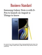 Samsung Galaxy Note 9 with S-Pen to launch on August 9: Things to know