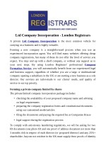 Ltd Company Incorporation - London Registrars