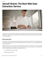 Semalt Shares The Best Web Data Extraction Service