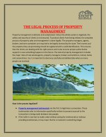 The Legal Process Of Property Management - Stott Real Estate Inc.