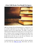 4 Best GRE Books You Should Not Ignore