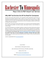 Why MSP Taxi Services Are All You Need for Conveyance