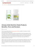 Amway India Nutritive Daily Products Benefits, Price and Reviews