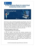 Is Your Business Ready for Latest Cloud Computing Trends 2019?