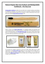 Natural Organic Skin Care Products and Biodegradable Toothbrush - The Clay Cure