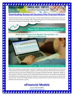 Downloading Restaurant Business Plan Financial Models