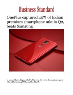 OnePlus captured 40% of Indian premium smartphone mkt in Q2, beats Samsung