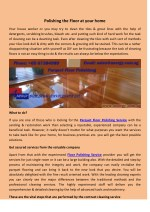 Polishing the Floor at your home