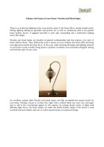 Enhance the beauty of your Room- Wooden and Metal Lamps