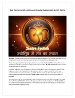Best Tantra Jyotish reading astrology by Bagulamukhi Jyotish Tantra