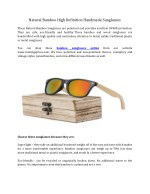 Natural Bamboo High Definition Handmade Sunglasses