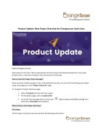 Product Update: New Project Overview for Orangescrum SaaS Users