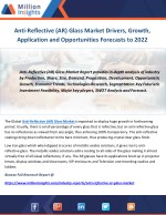 Anti-Reflective (AR) Glass Market Drivers, Growth, Application and Opportunities Forecasts to 2022