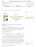 Herbalife tea concentrate benefits, side effects, price and reviews – Herbal Product