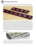 Go Ahead for Labuan Bank Account to Avail Maximum Benefits?