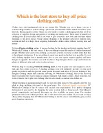 Which is the best store to buy off price clothing online?