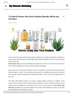 10 Untold Forever Aloe Vera Products Benefits Which you not Know