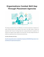 Organizations Combat Skill Gap Through Placement Agencies