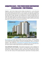 Sarjapur Road – The Prime Home Destination In Bangalore - The Vivansaa