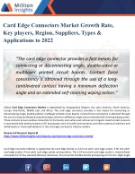 Card Edge Connectors Market Analysis - Trends, Technologies & Forecasts Report 2022