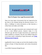 LLC Filing Documents Prepared By LegalEzeUSA