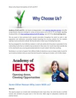Many Reason To Choose the Academy of IELTS and PTE