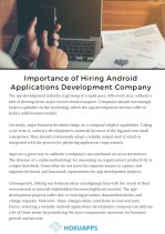 Importance of Hiring Android Application Development Company
