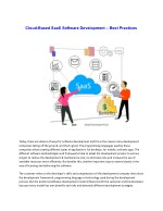 Cloud-Based SaaS Software Development – Best Practices