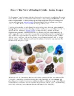 Discover the Power of Healing Crystals - Karma Healper