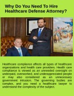 Why Do You Need To Hire Healthcare Defense Attorney