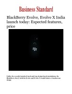 BlackBerry Evolve, Evolve X India Launch Today: Know Specification, Features & Price in India