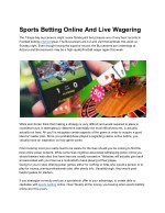 Sports Betting Online And Live Wagering