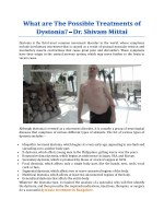 What are The Possible Treatments of Dystonia? - Dr. Shivam Mittal