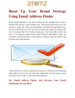Boost Up Your Business Strategy Using Email Address Finder