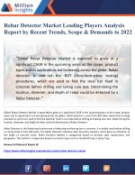 Rebar Detector Market Leading Players Analysis Report by Recent Trends, Scope & Demands to 2022