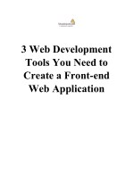 3 Web Development Tools You Need to Create a Front-end Web Application