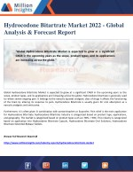 Hydrocodone Bitartrate Market 2022 - Global Analysis & Forecast Report