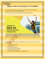 Upgrade to Idea 4G and Explore New Possibilities