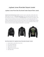 Jughead jones riverdale serpent jacket