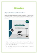 3 types of tablet stand and when to use them