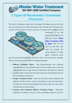 3 Types Of Wastewater Treatment Processes