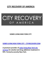 Sober Living New York City at City Recovery NYC
