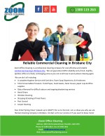Reliable Commercial Cleaning in Brisbane City