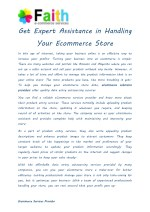Get Expert Assistance in Handling Your Ecommerce Store